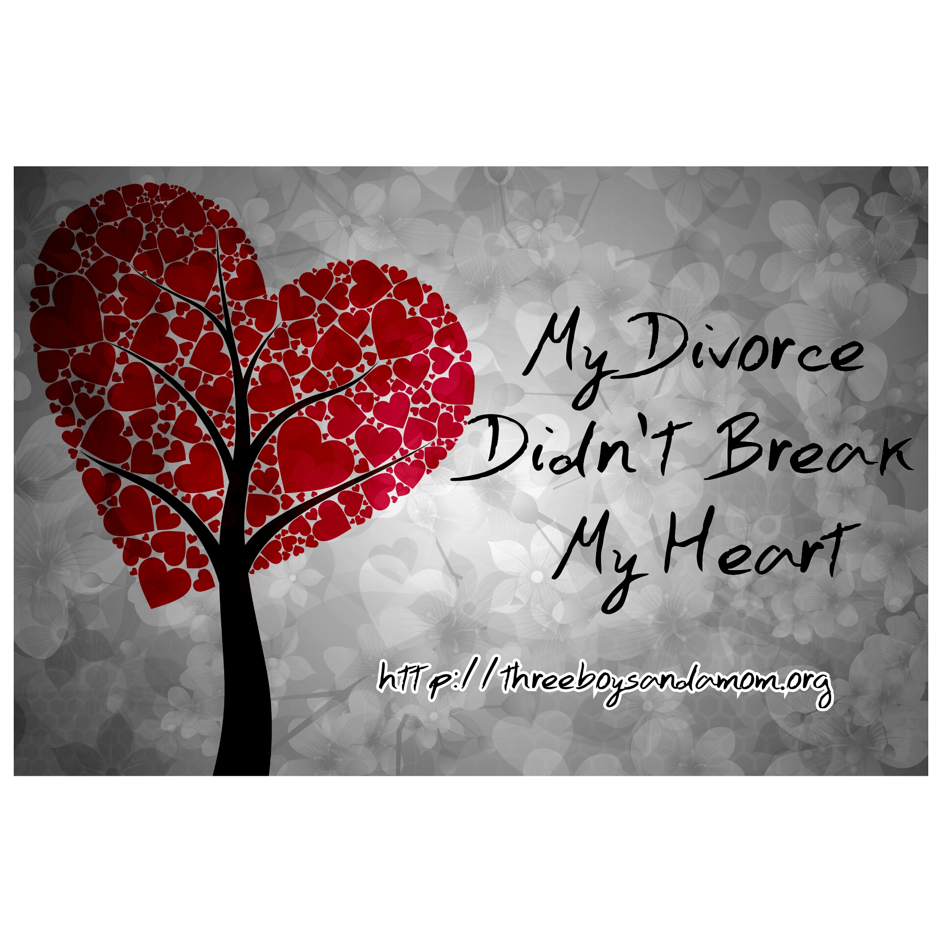 My Divorce Didnt Break My Heart Three Boys And A Mom
